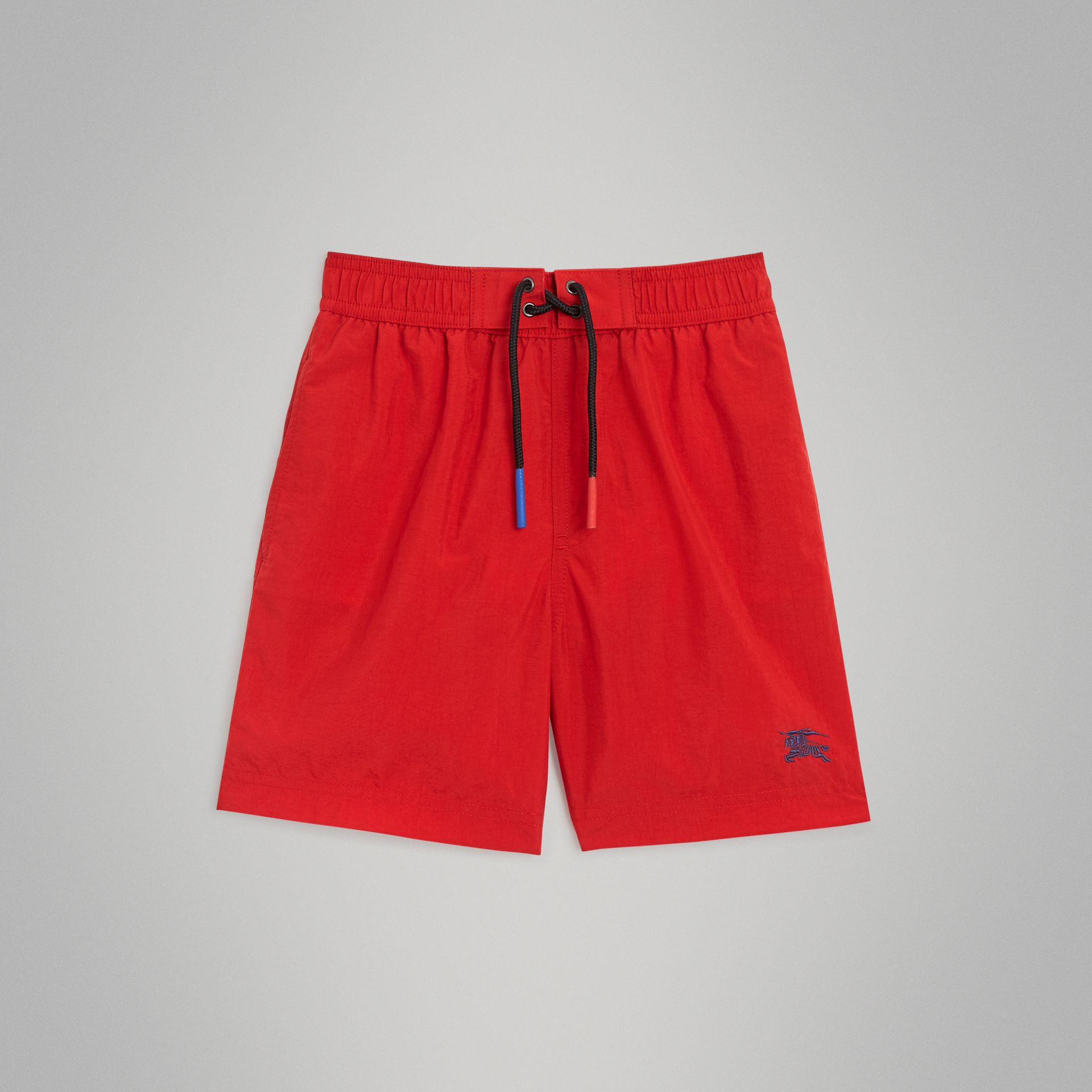 Drawcord Swim Shorts in Military Red | Burberry Australia - gallery image 0