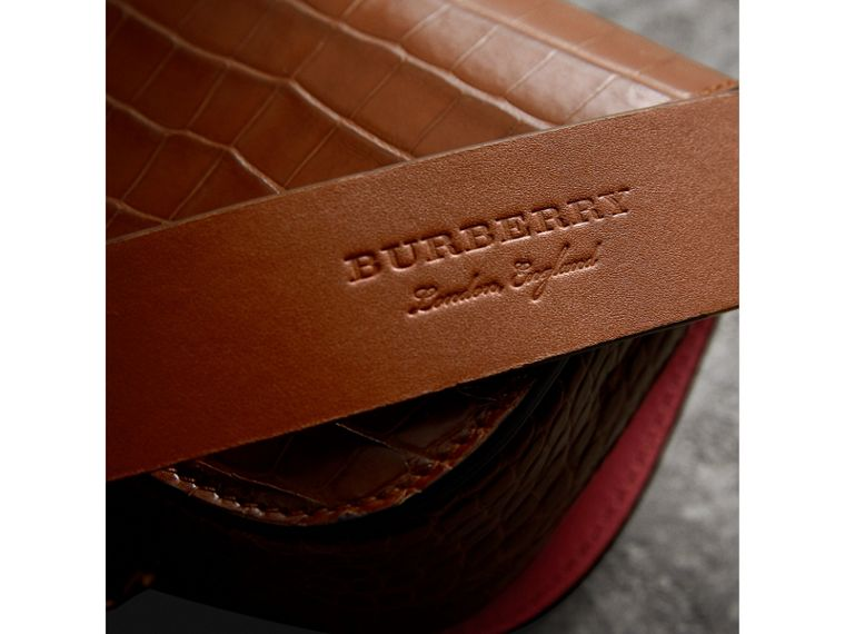 The Pocket Satchel in Alligator in Tan | Burberry United Kingdom - cell image 1