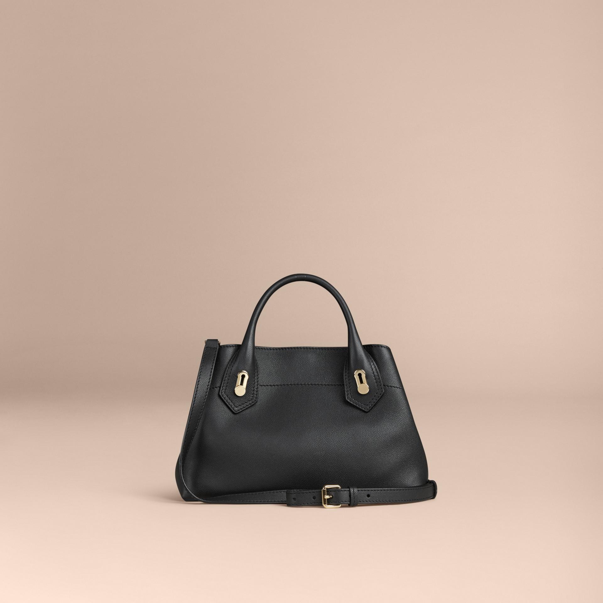 Noir Petit sac The Milton en cuir grené Noir - photo de la galerie 4