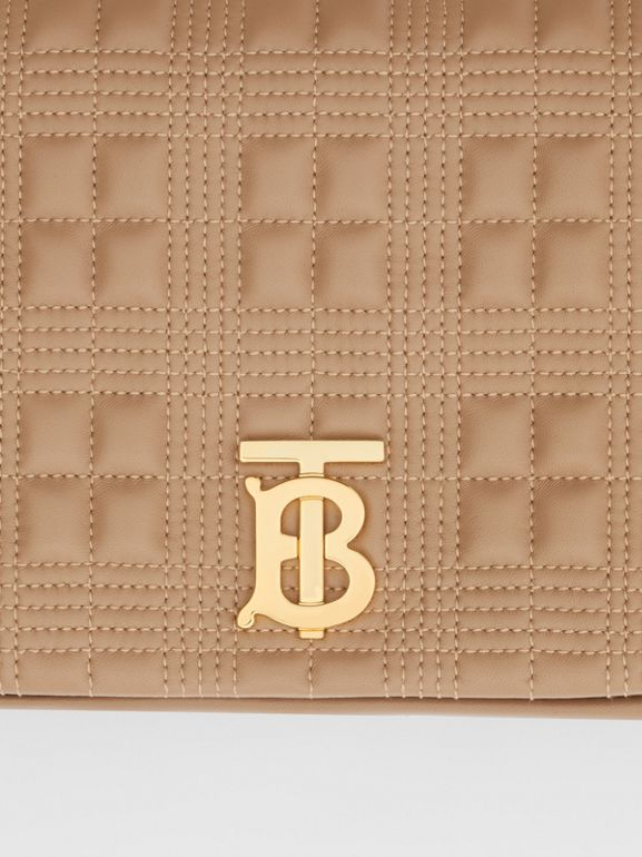 Medium Quilted Lambskin Lola Bag in Camel - Women | Burberry United Kingdom - cell image 1