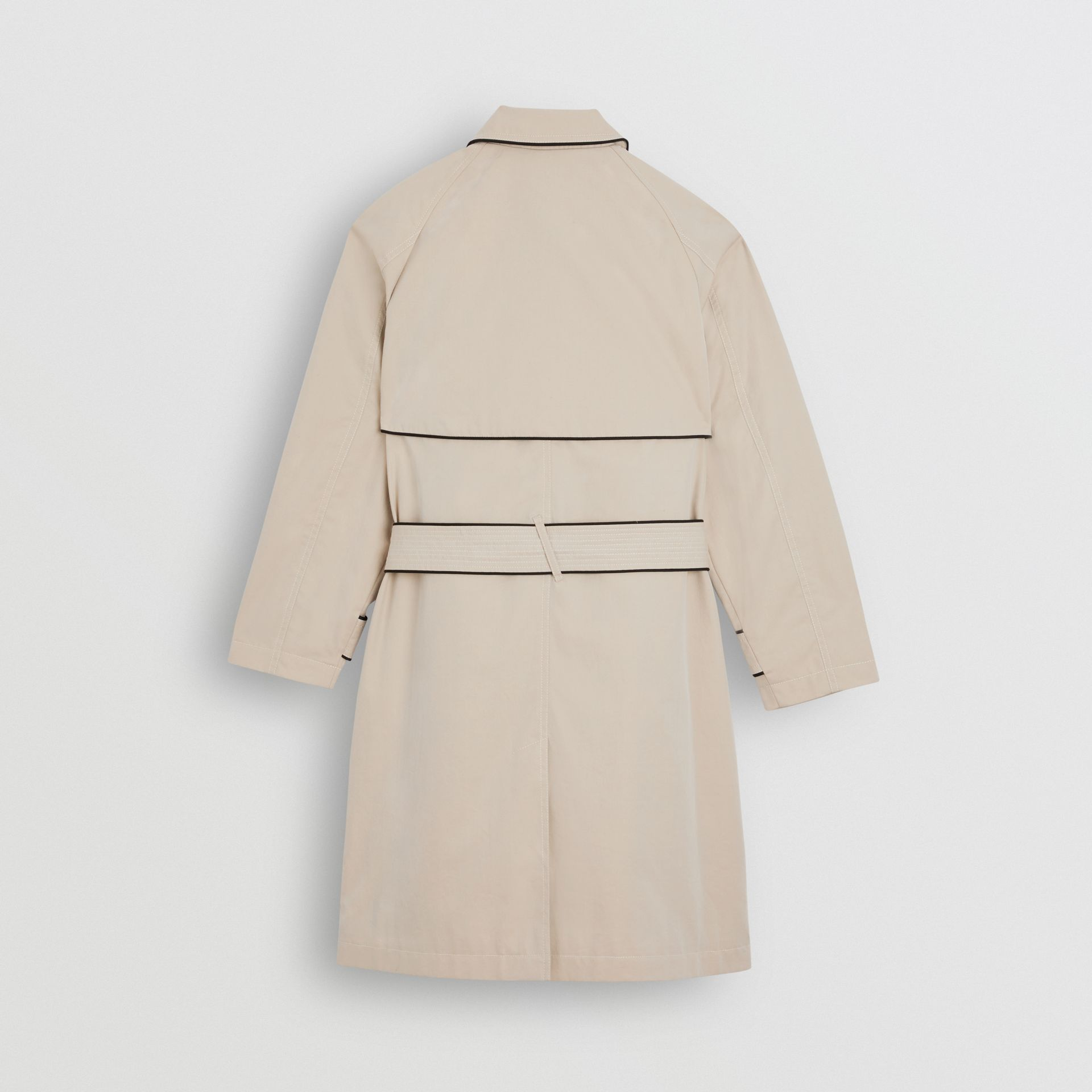 Piping Detail Tropical Gabardine Trench Coat in Stone | Burberry - gallery image 3