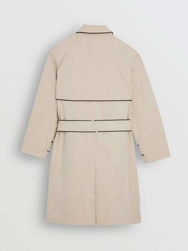 Piping Detail Tropical Gabardine Trench Coat in Stone | Burberry - cell image 3