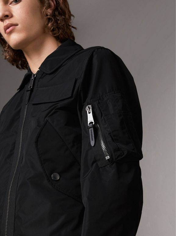 Showerproof Bomber Jacket in Black - Men | Burberry - cell image 1