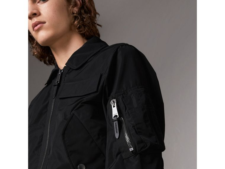 Showerproof Bomber Jacket in Black - Men | Burberry United States - cell image 1