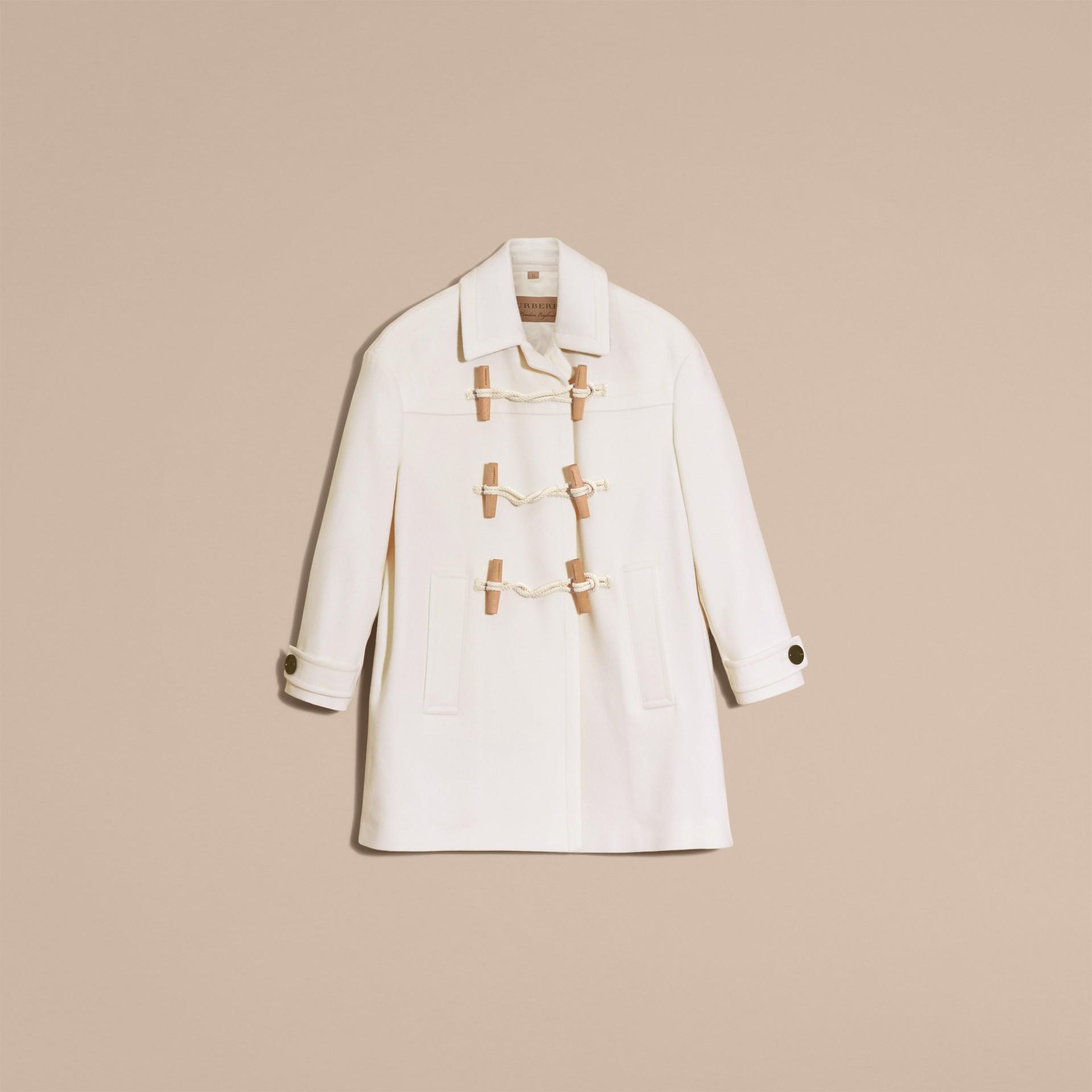 White Cashmere Duffle Coat White - gallery image 4