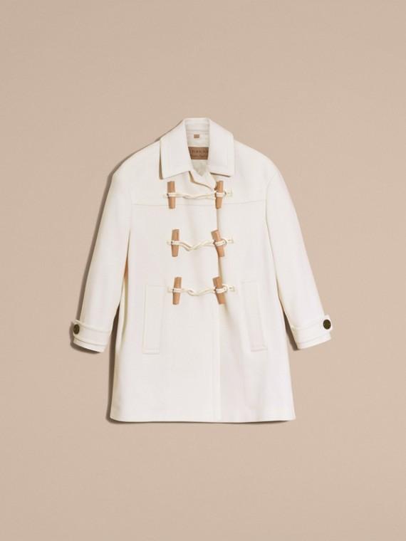 Blanc Duffle-coat en cachemire Blanc - cell image 3