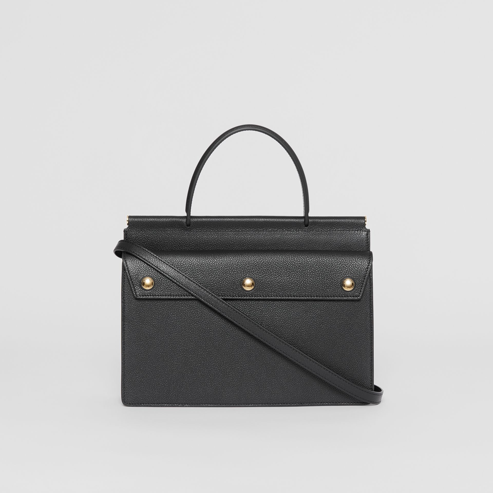 Small Leather Title Bag with Pocket Detail in Black - Women | Burberry United Kingdom - gallery image 7