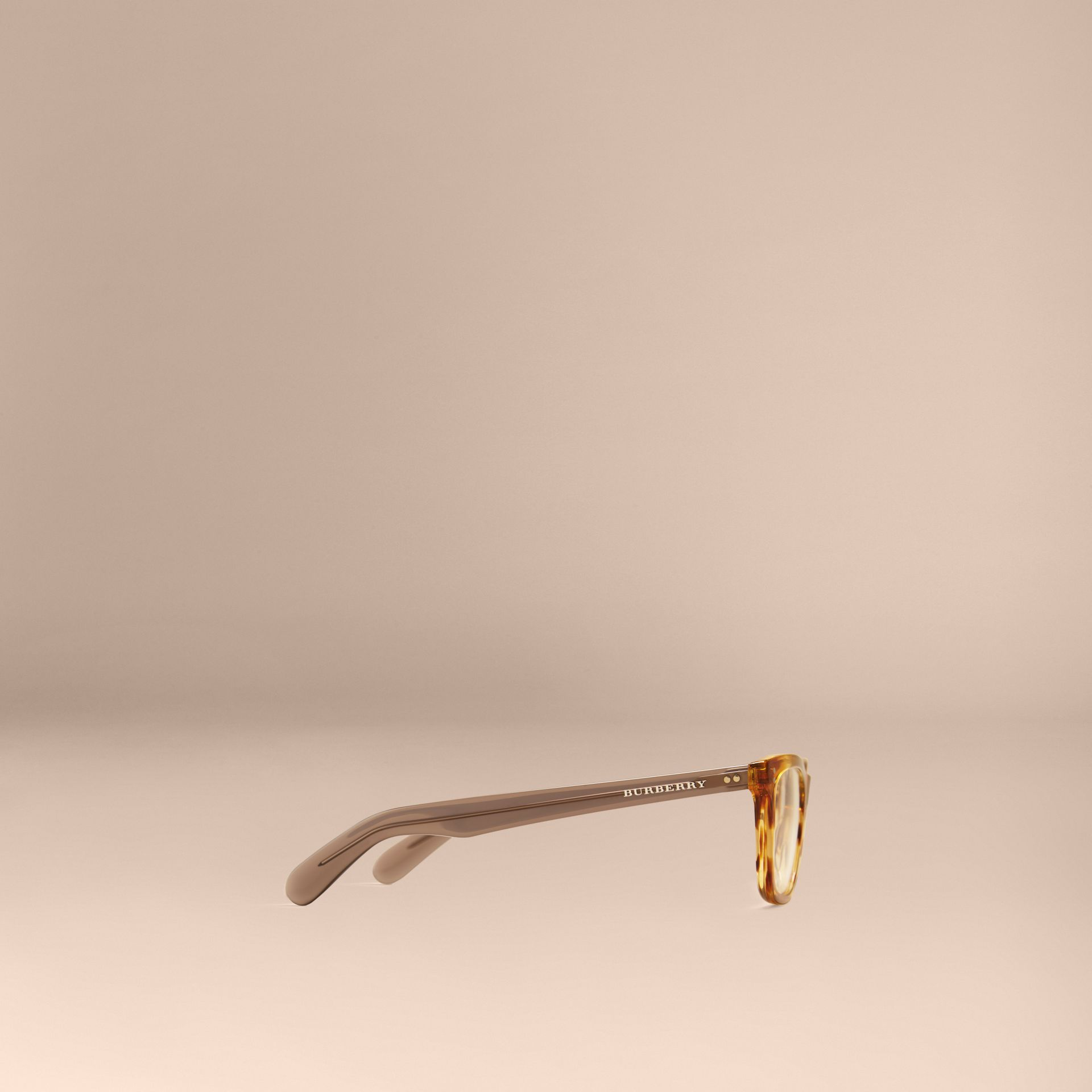 Square Optical Frames in Tortoise Amber - gallery image 5