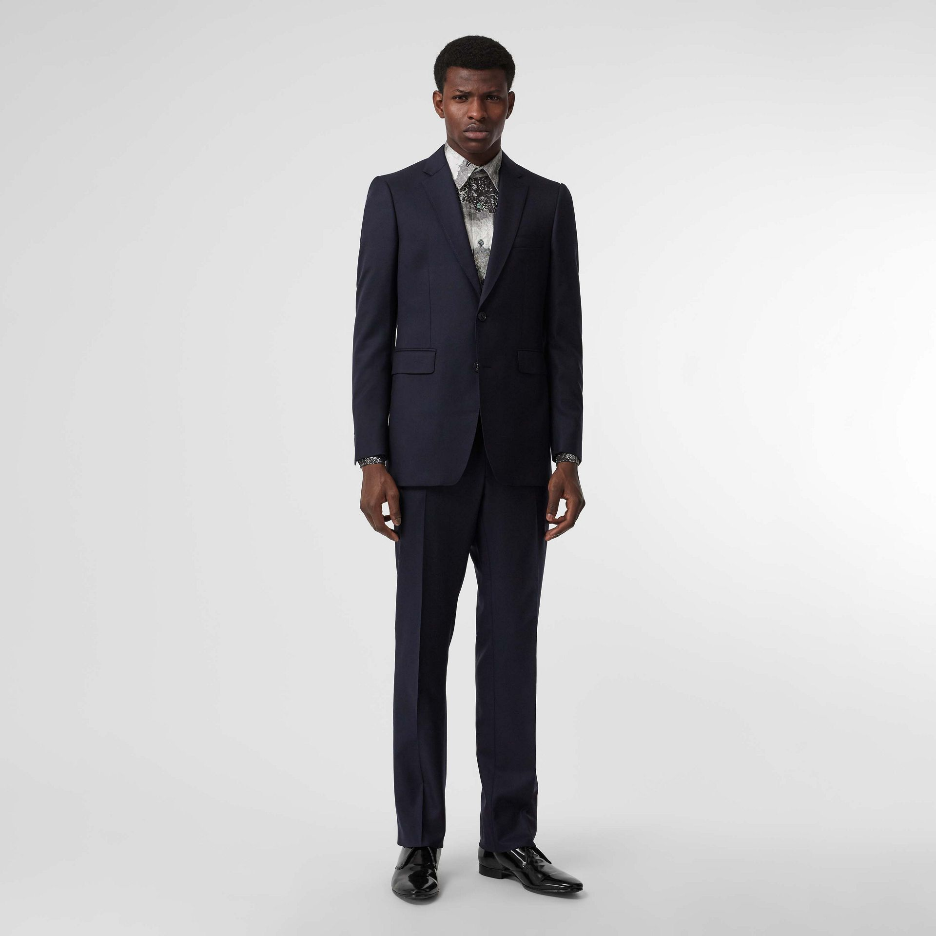 Classic Fit Wool Twill Suit in Navy - Men | Burberry - gallery image 0