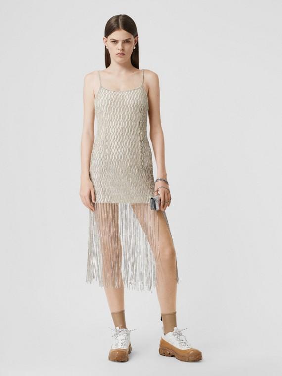 Crystal-embellished Tulle Slip Dress