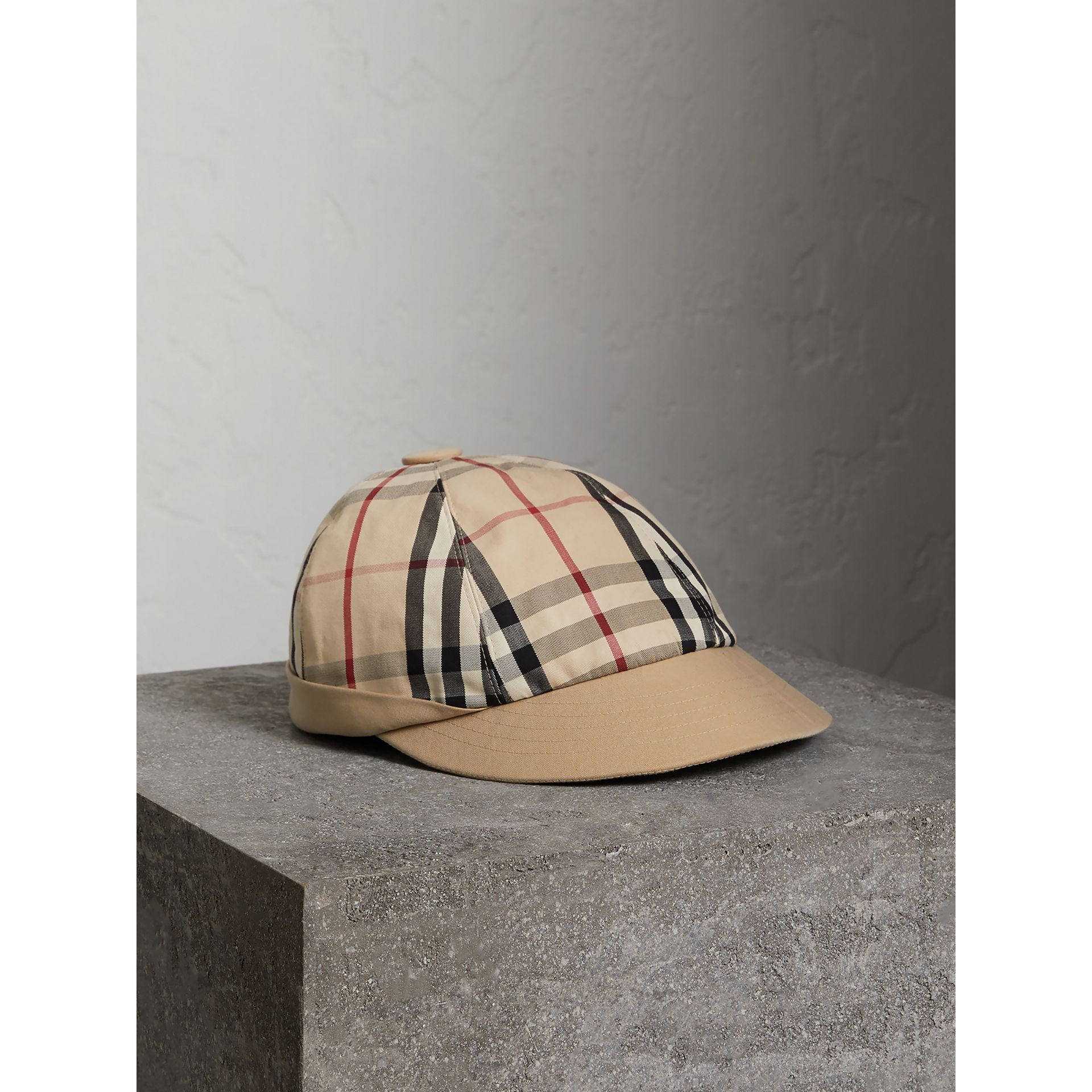 Gosha x Burberry Baseball Cap in Honey | Burberry Singapore - gallery image 0