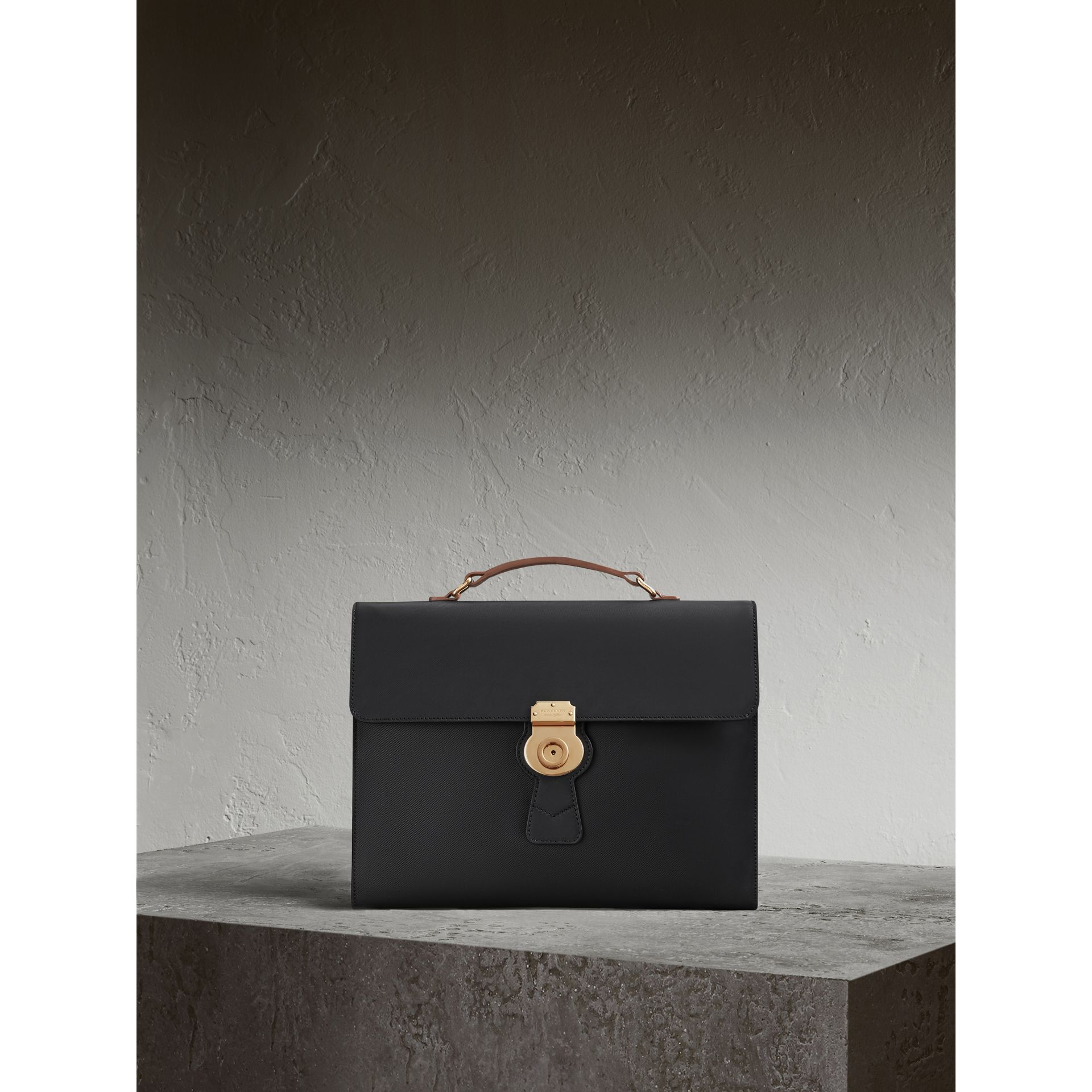 The Large DK88 Document Case in Black - gallery image 1