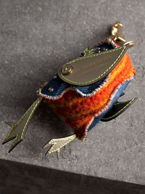 Derek The Bird Cashmere Charm in Clementine | Burberry United Kingdom - cell image 3