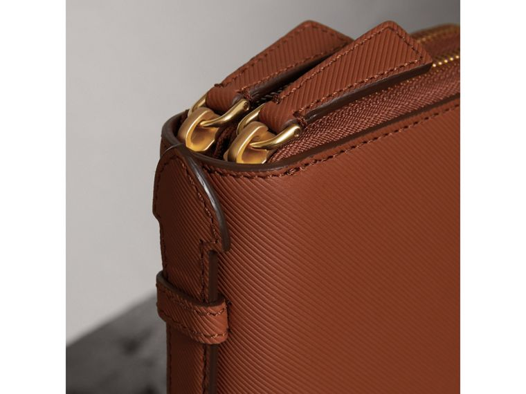 Trench Leather Travel Wallet in Tan - Men | Burberry United Kingdom - cell image 1