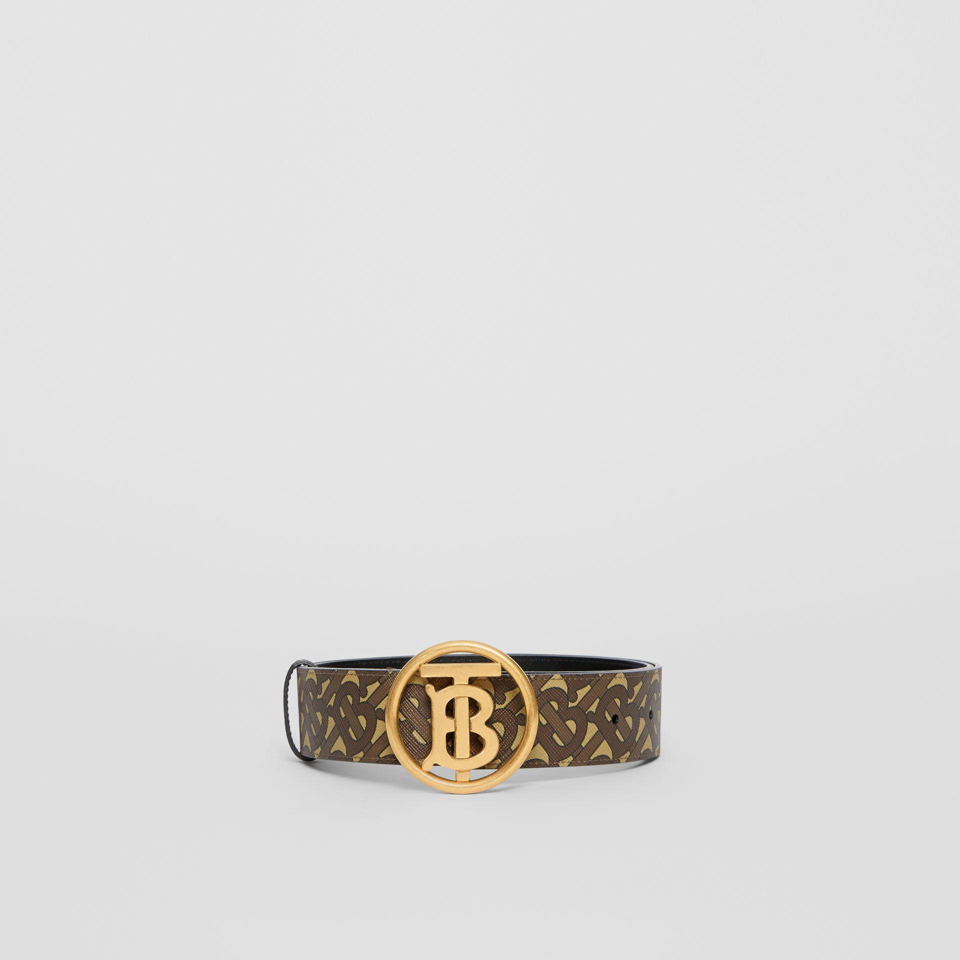 Monogram Motif Monogram Print E-canvas Belt in Bridle Brown - Women | Burberry United Kingdom - gallery image 3