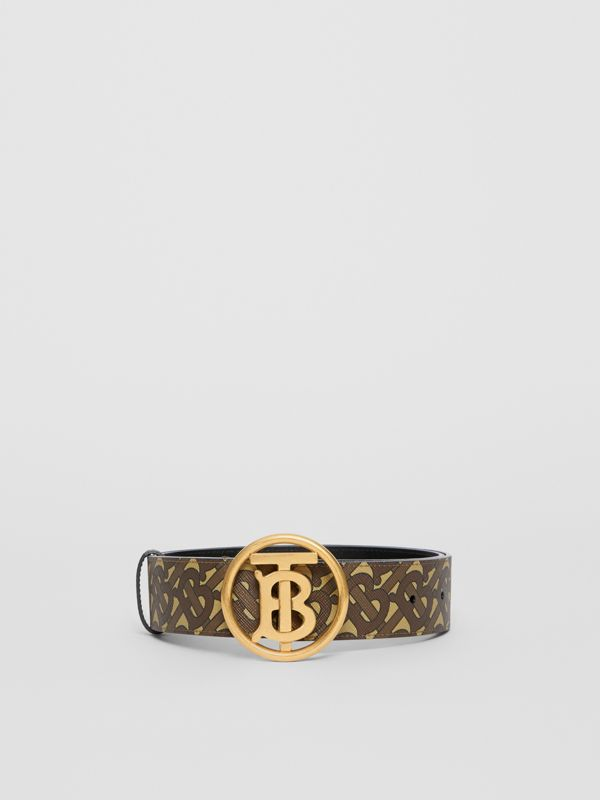 Monogram Motif Monogram Print E-canvas Belt in Bridle Brown - Women | Burberry United Kingdom - cell image 3