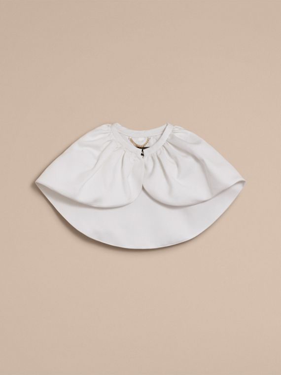 Cropped Cotton and Silk Cape - Women | Burberry - cell image 3