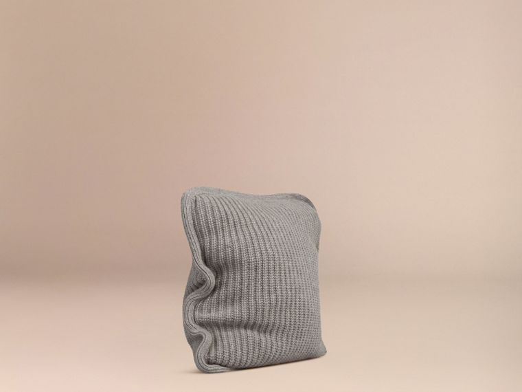 Light grey melange Knitted Cashmere Cushion Cover Light Grey Melange - cell image 2
