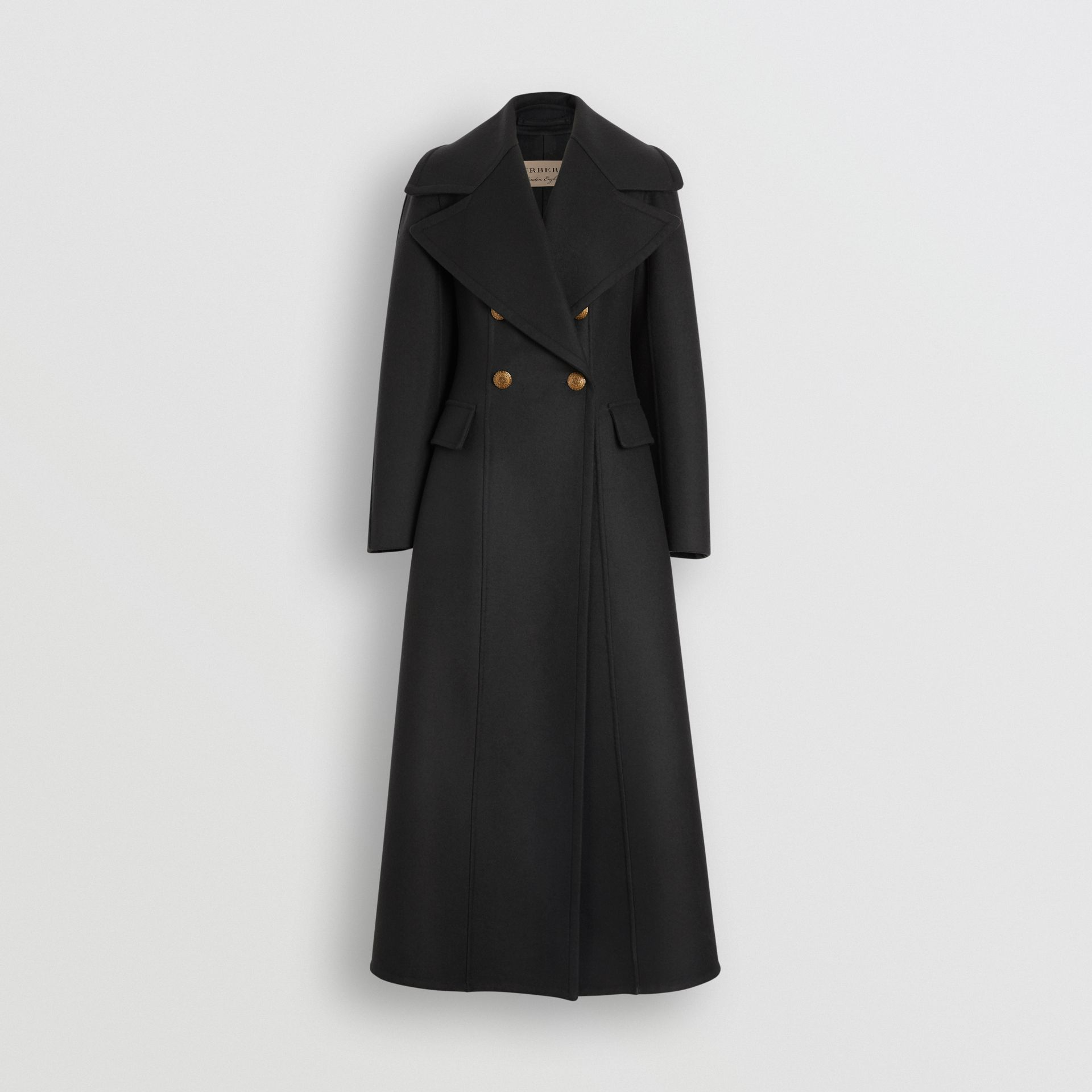 Doeskin Wool Tailored Coat in Dark Forest Green - Women | Burberry - gallery image 3
