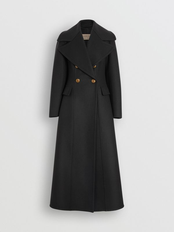 Doeskin Wool Tailored Coat in Dark Forest Green - Women | Burberry United Kingdom - cell image 3