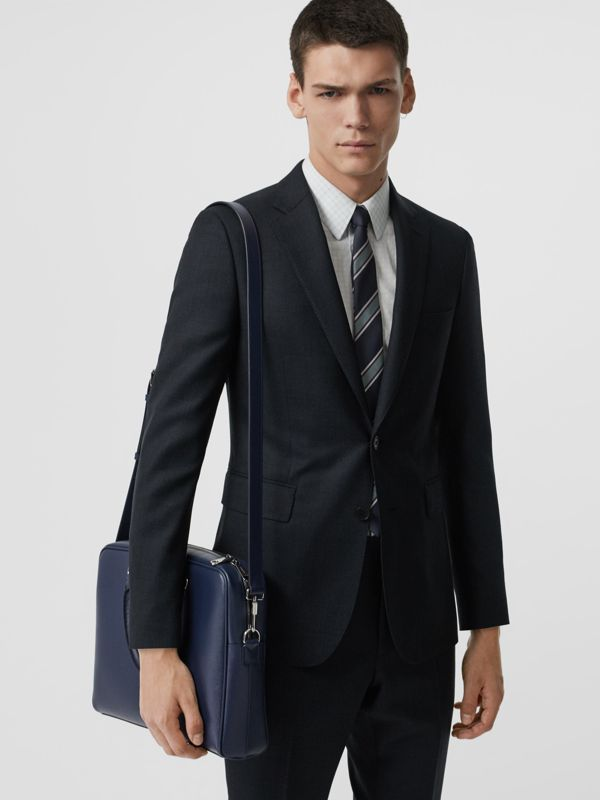 London Leather Briefcase in Navy - Men | Burberry - cell image 3