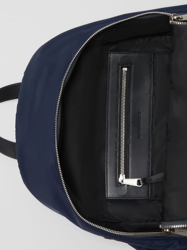 Large EKD Aviator Nylon Backpack in Ink Blue - Men | Burberry Singapore - cell image 3