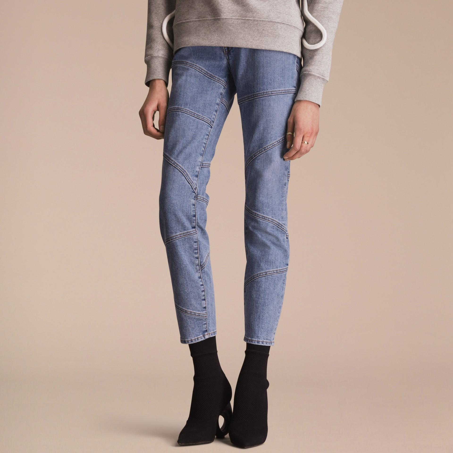 Slim Fit Seam Detail Japanese Denim Jeans - gallery image 7