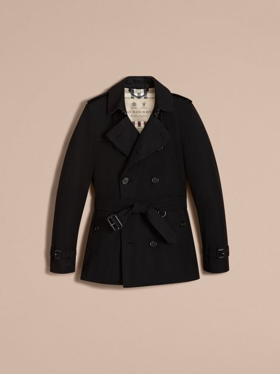 The Kensington – Short Heritage Trench Coat Black - cell image 3