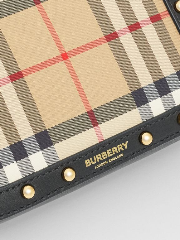 Vintage Check and Studded Leather Bum Bag in Black - Children | Burberry - cell image 1
