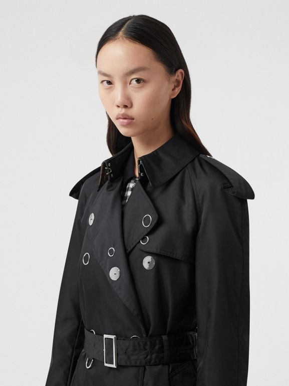 Press-stud Detail ECONYL® Trench Coat in Black - Women | Burberry Canada - cell image 1