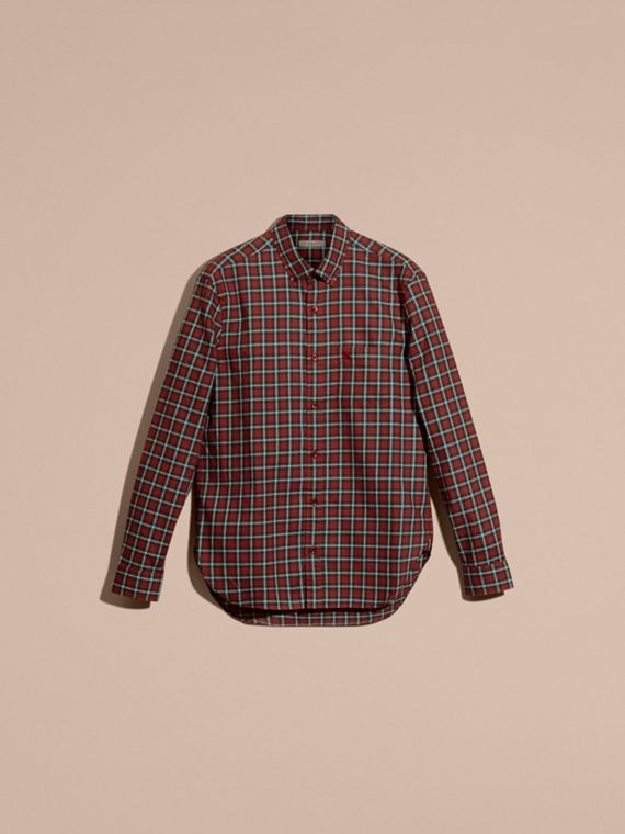 Parade red Tartan Cotton Twill Shirt Parade Red - cell image 3