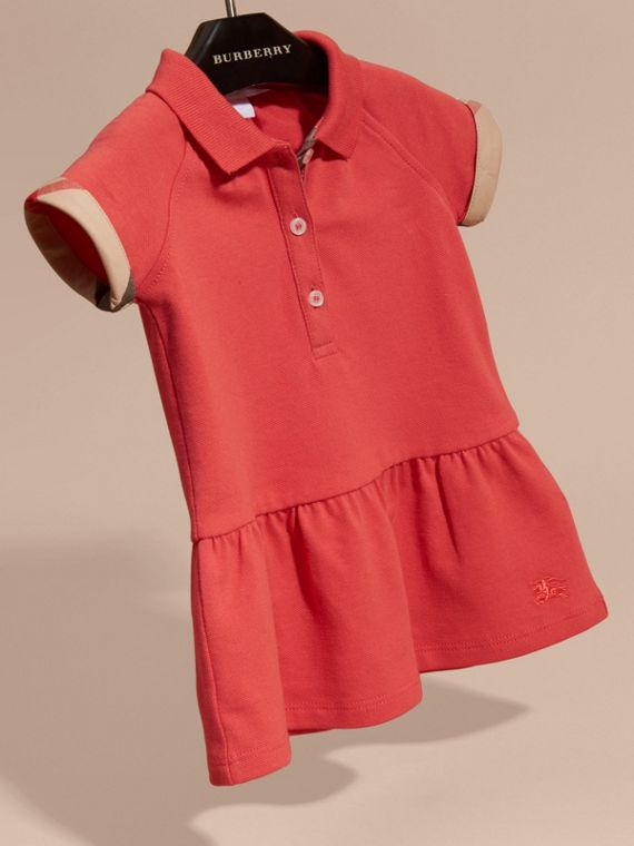 Check Detail Cotton Piqué Shirt Dress - cell image 2