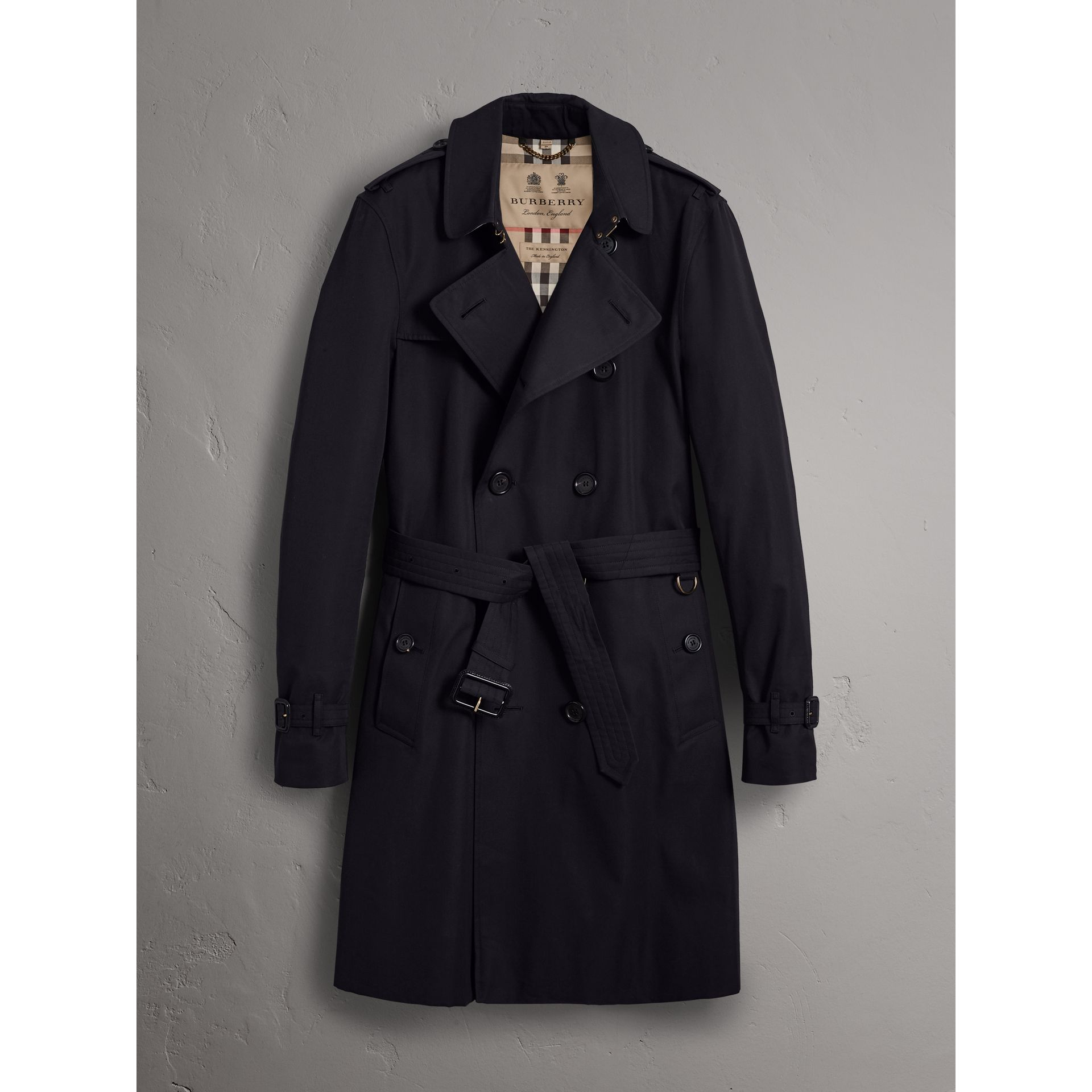 The Kensington – Long Trench Coat in Navy - Men | Burberry - gallery image 3