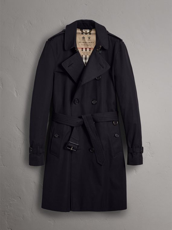 The Kensington – Long Trench Coat in Navy - Men | Burberry - cell image 3