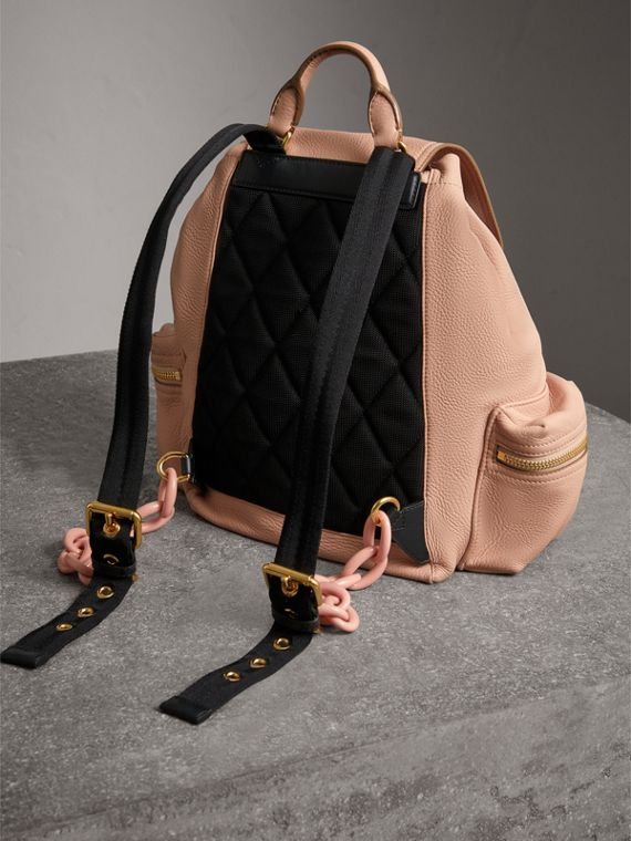 The Medium Rucksack in Deerskin with Resin Chain in Pale Apricot - Women | Burberry United States - cell image 3