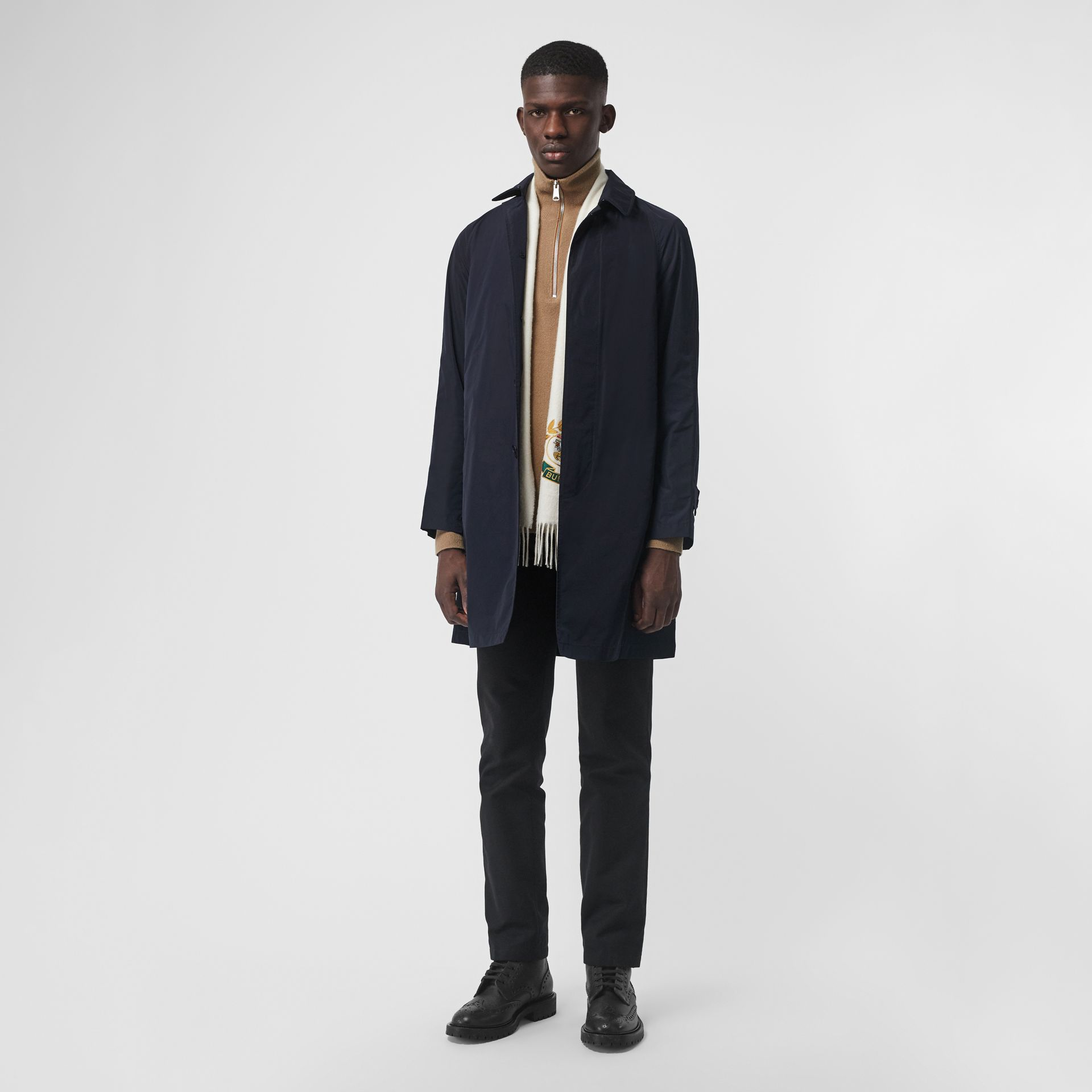 Shape-memory Taffeta Car Coat with Warmer in Navy - Men | Burberry - gallery image 0