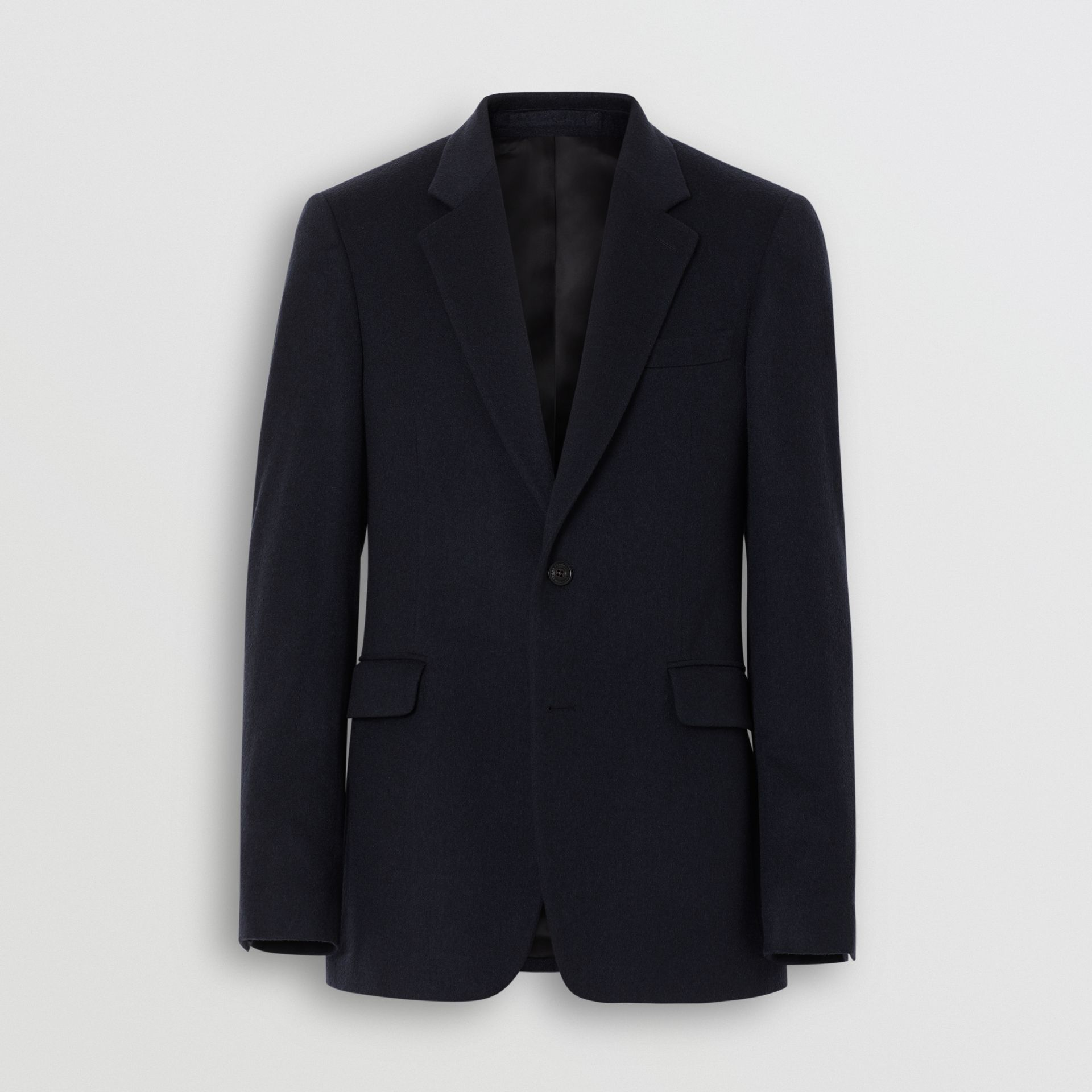 Classic Fit Cashmere Tailored Jacket in Navy Melange - Men | Burberry - gallery image 3