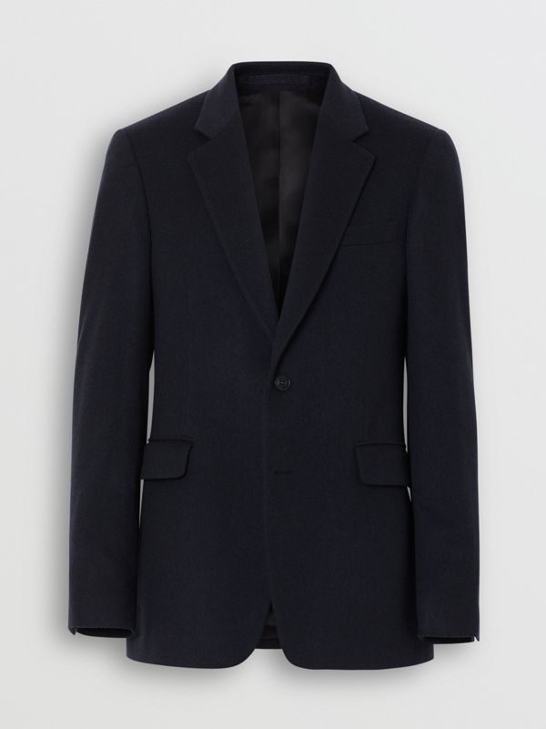 Classic Fit Cashmere Tailored Jacket in Navy Melange - Men | Burberry - cell image 3