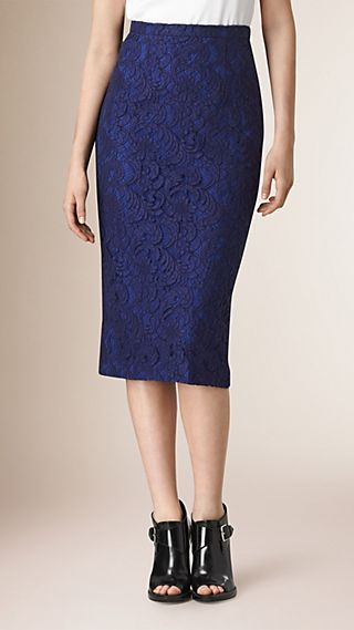 Floral Lace Pencil Skirt