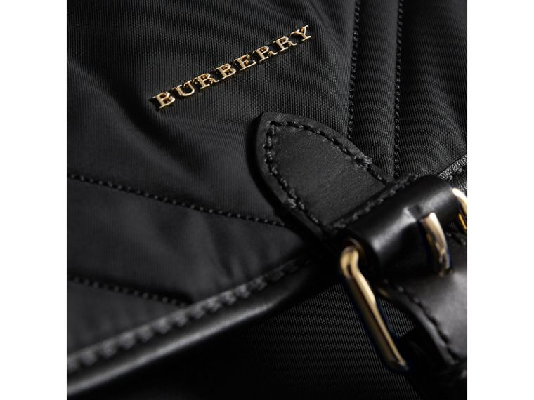 Check-quilted Baby Changing Shoulder Bag in Black | Burberry Canada - cell image 1