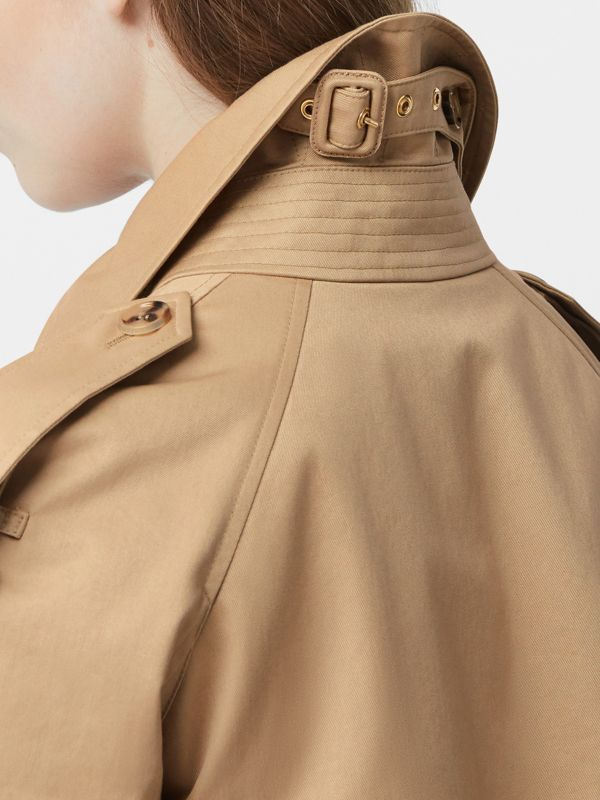Extra Long Cotton Gabardine Trench Coat in Soft Fawn - Women | Burberry United Kingdom - cell image 3