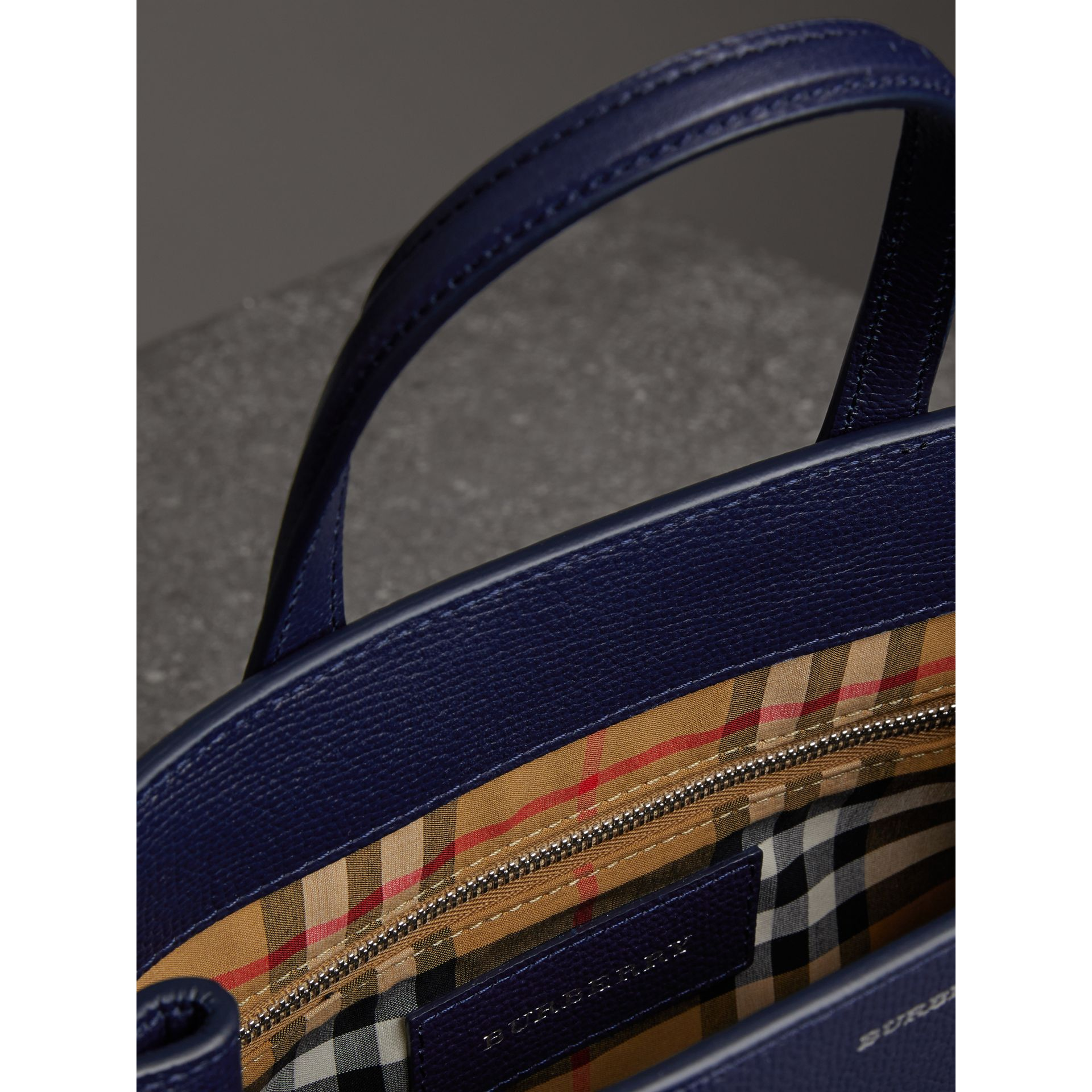 The Small Banner in Leather in Regency Blue - Women | Burberry - gallery image 5