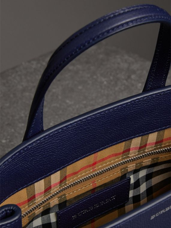 The Small Banner in Leather in Regency Blue - Women | Burberry - cell image 3
