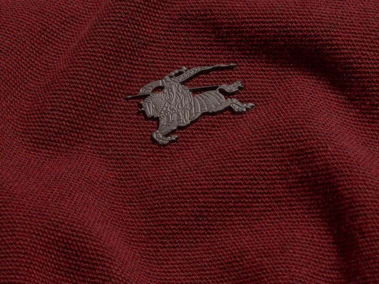 Parade red melange Contrast Colour Detail Cotton Piqué Polo Shirt Parade Red Melange - cell image 1