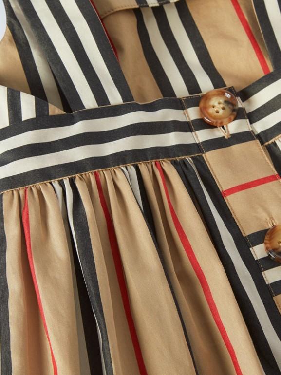 Icon Stripe Cotton Poplin Dress in Archive Beige - Children | Burberry United Kingdom - cell image 1