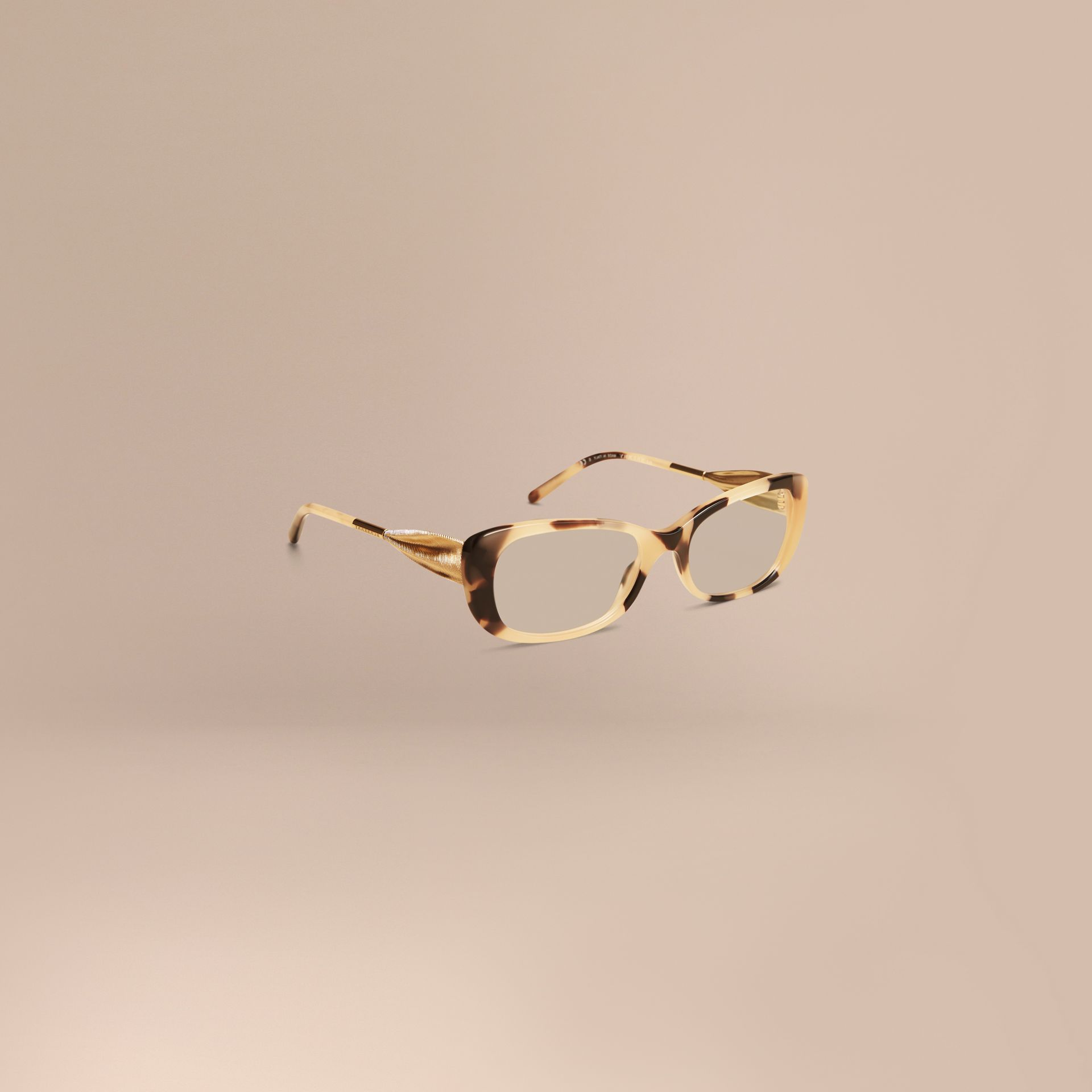 Light horn Gabardine Collection Oval Optical Frames - gallery image 1
