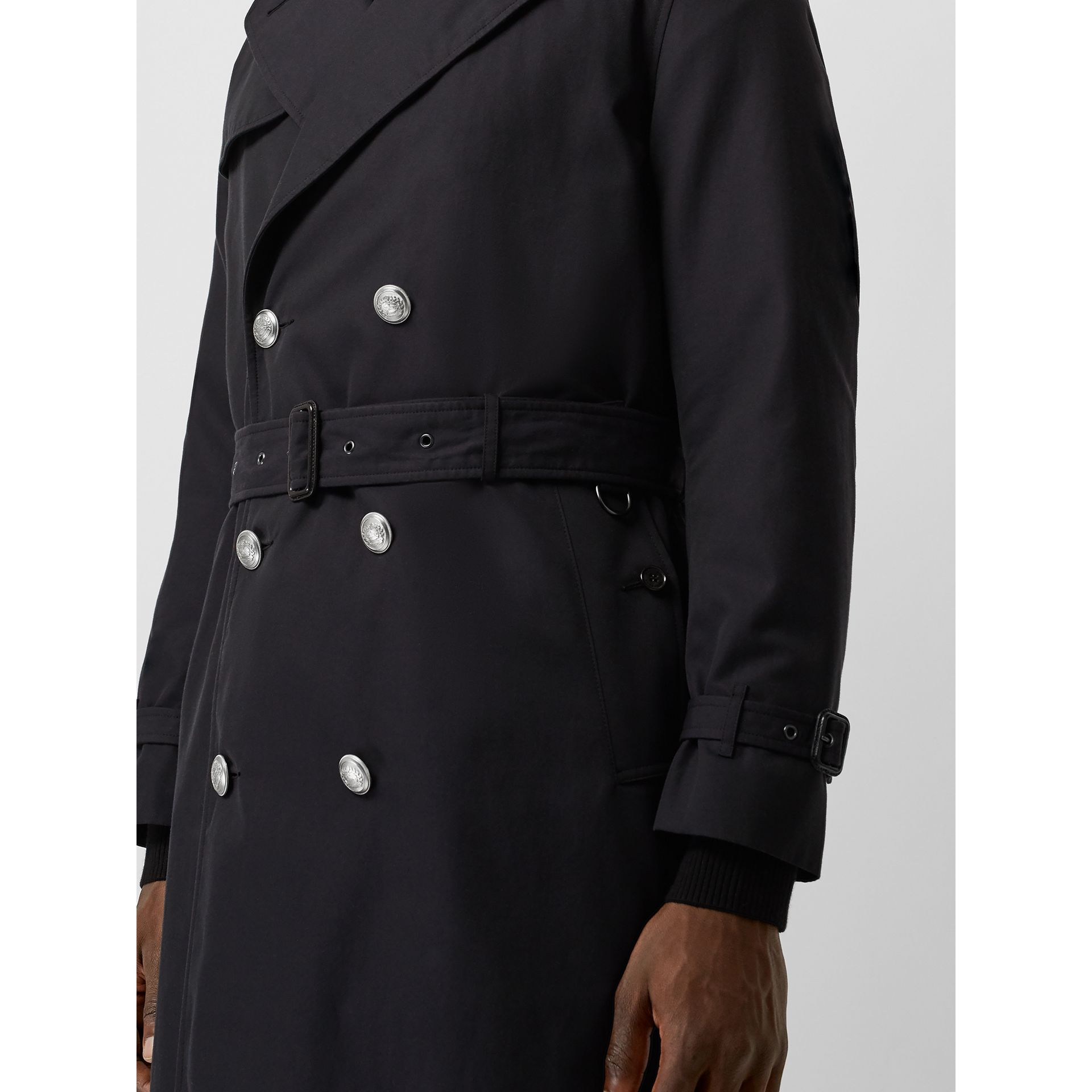 Cotton Gabardine Trench Coat with Warmer in Midnight - Men | Burberry United States - gallery image 4