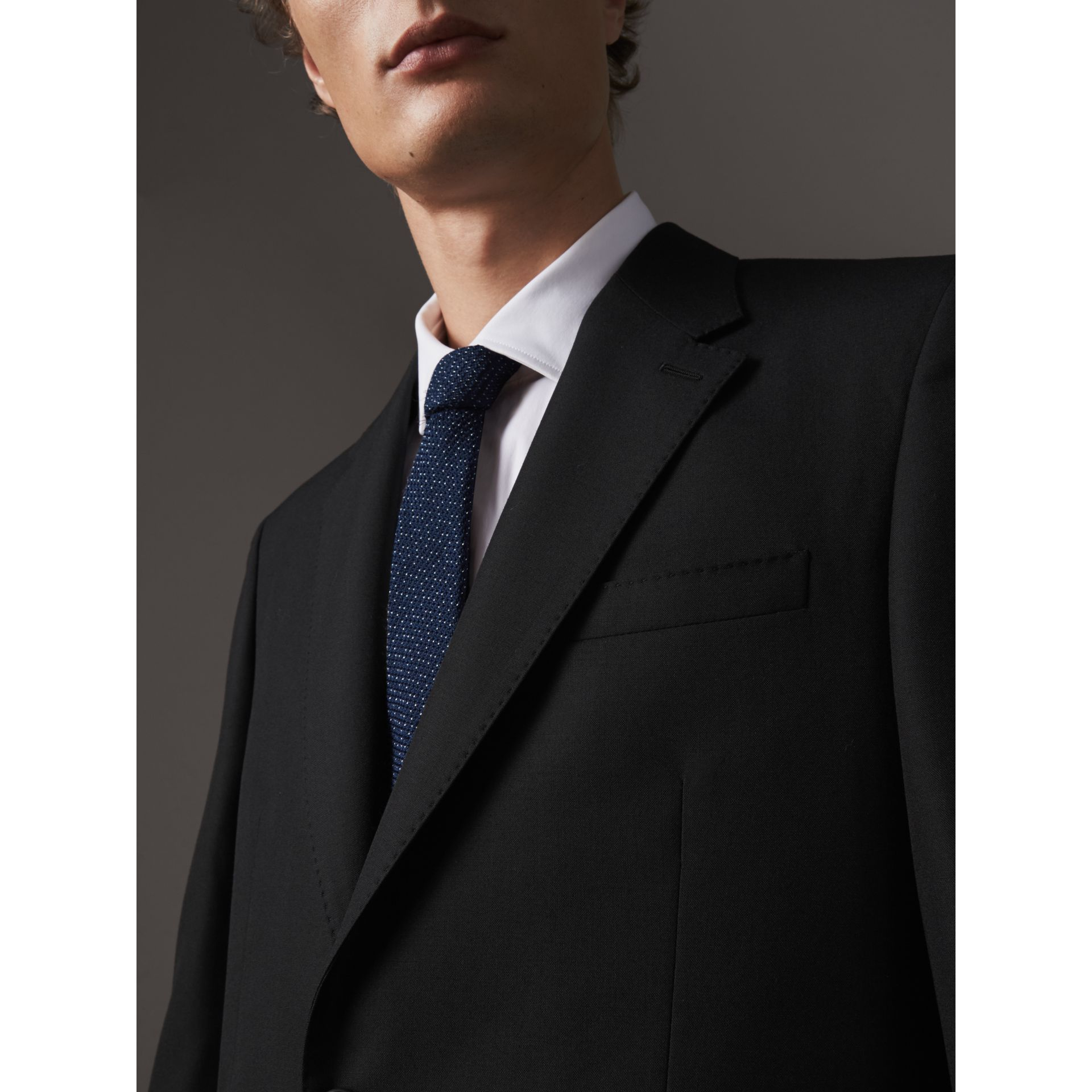 Classic Fit Wool Part-canvas Suit in Black - Men | Burberry - gallery image 4
