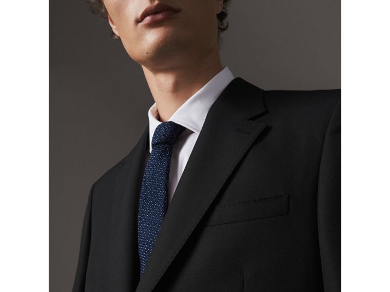 Classic Fit Wool Part-canvas Suit in Black - Men | Burberry - cell image 4