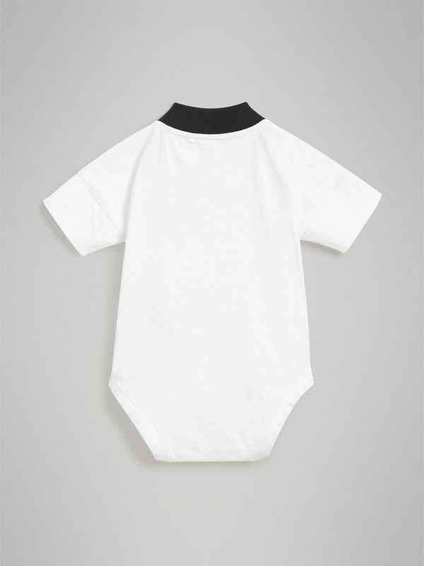 Equestrian Knight Print Cotton Bodysuit in Navy - Children | Burberry - cell image 3